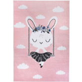 Dywan Light Collection Pink Rabbit